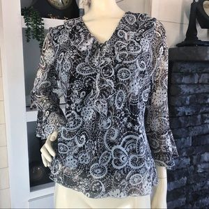 Dress barn blouse boho beautiful print